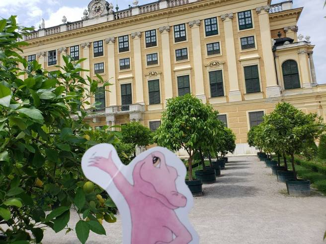Flat Rose Travels Landy Lemon Tree in Vienna May 2018