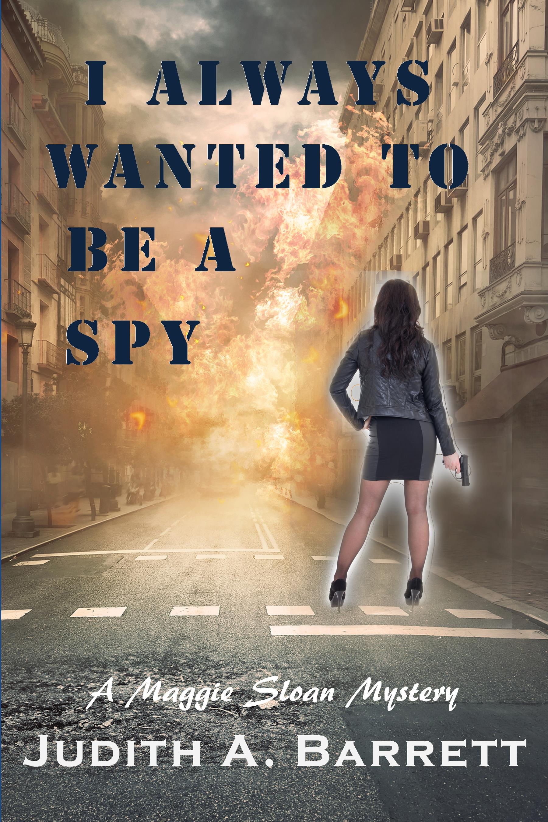 I Always Wanted to be a Spy 29 6x9 new girl with gun
