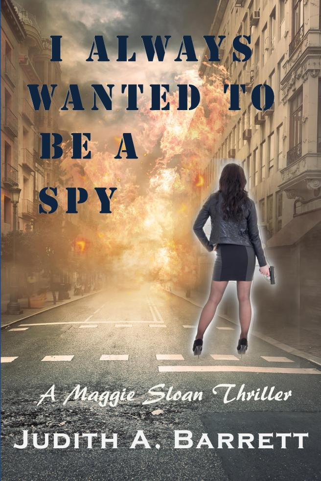 I Always Wanted to be a Spy 29 6x9 new girl with gun THRILLER