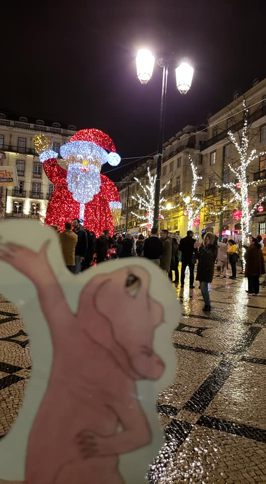 Flat Rose Portugal with Santa Claus