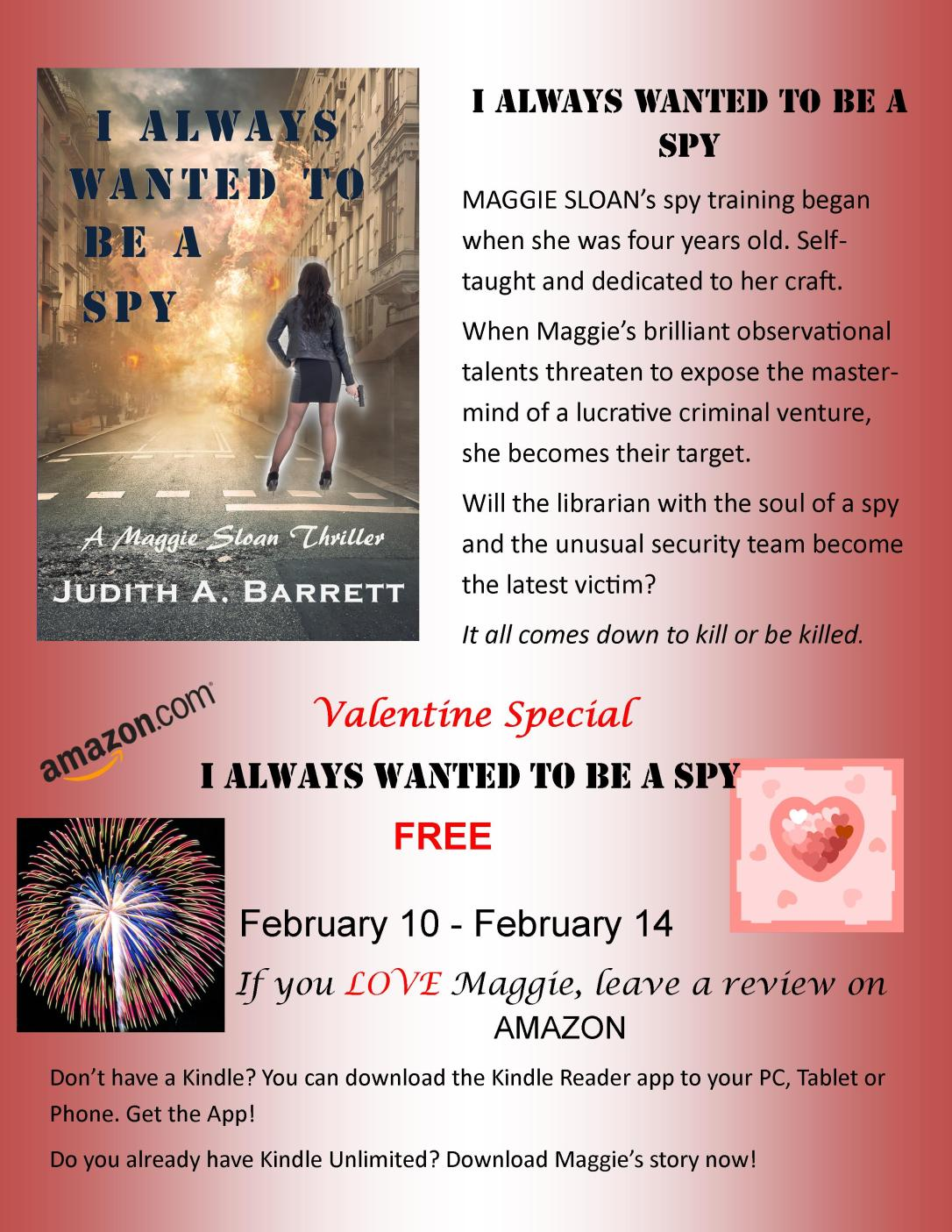 I always wanted to be a spy promo free feb 2019
